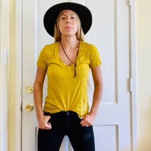 Madwell tshirt yellow xs